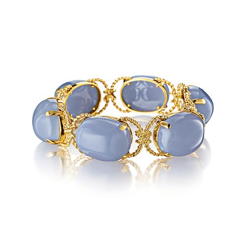 Verdura-Jewelry-Pebble-Bracelet-Gold-Chalcedony
