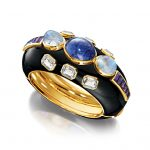 Verdura-Jewelry-Ravenna-Cuff-Gold-Tanzanite-Moonstone-White-Topaz-Amethyst-Enamel-150x150