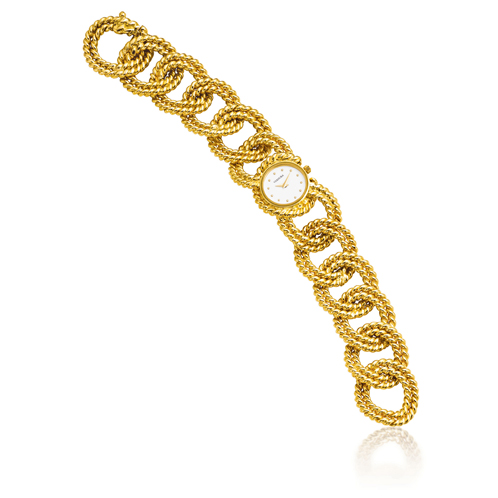 Verdura-Jewelry-Rope-Link-Bracelet-Watch-Gold