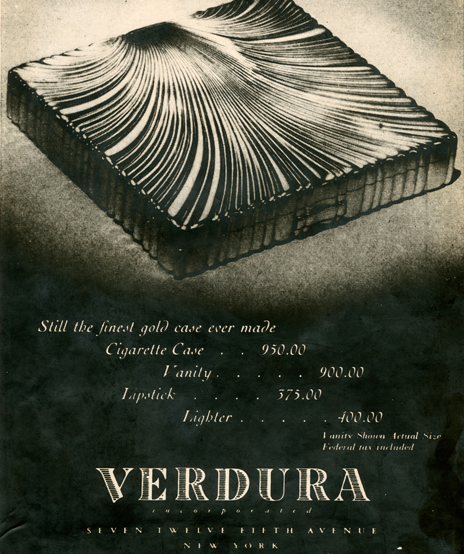 Verdura-Jewelry-Shell-Cigarette-Case-Advertisement