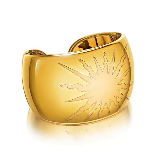 Verdura-Jewelry-Sun-Cuff-Gold