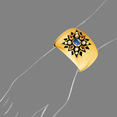 Verdura-Jewelry-Sunburst-Cuff-Scale-Rendering