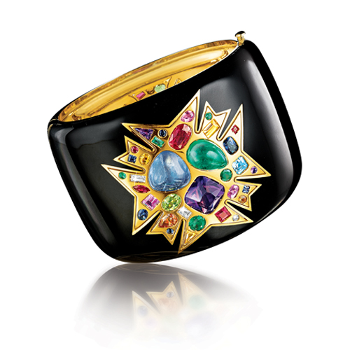 Verdura-Jewelry-Theodora-Cuff-Gold-Enamel