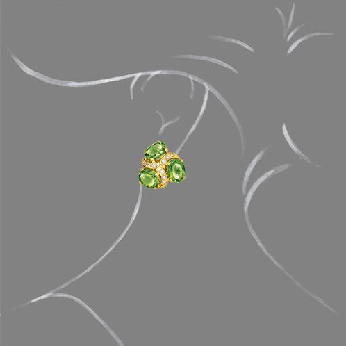Verdura-Jewelry-Three-Stone-Earclips-Peridot-Scale-Rendering