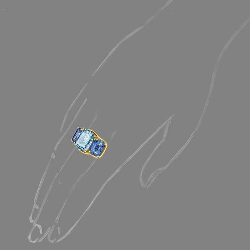 Verdura-Jewelry-Three-Stone-Ring-Aquamarine-Iolite-Scale-Rendering