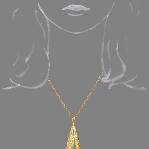Verdura-Jewelry-Tiara-Feather-Pendant-Necklace-Scale-Rendering