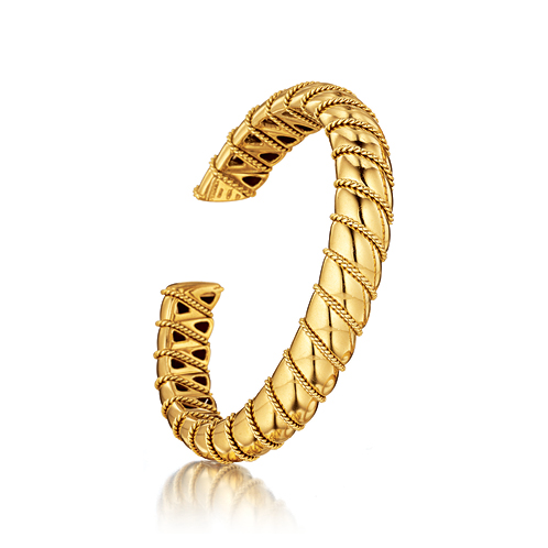 Verdura-Jewelry-Torsade-Bangle-Gold