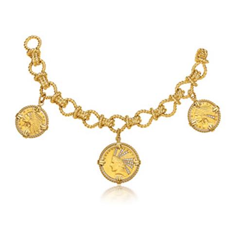 Verdura-Jewelry-Twenty-Buck-Bracelet-Gold-Diamond-Coin