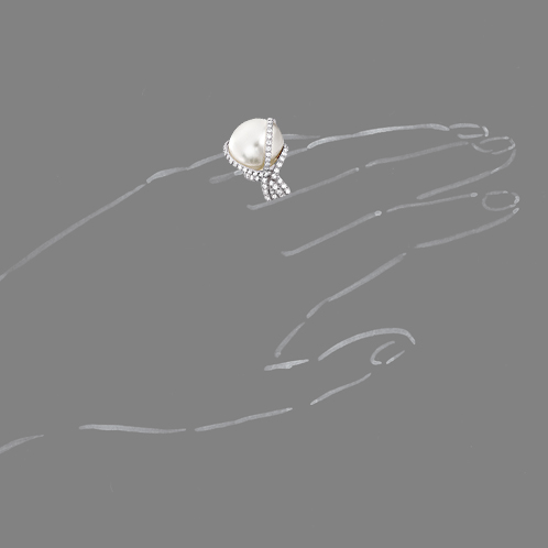 Verdura-Jewelry-Wrapped-Ring-Pearl-Scale-Rendering