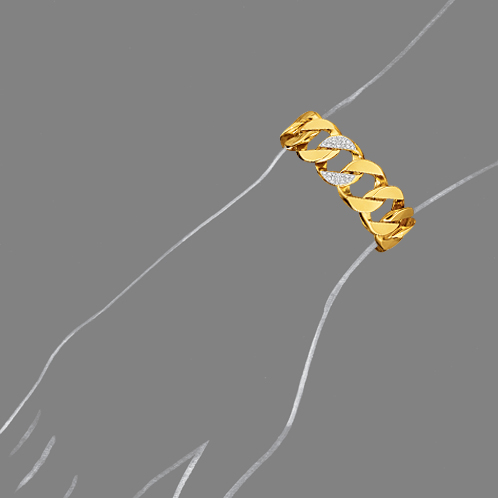 Verdura-Jewlery-Curb-Link-Bracelet-Gold-Diamond-Scale-Rendering