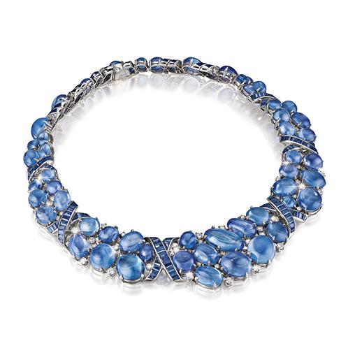 Verdura-Jewelry-Vintage-X- Necklace-Ceylon Sapphire