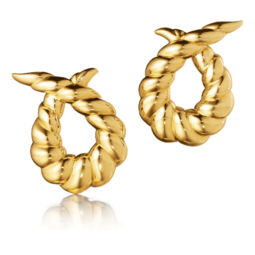 Verdura-Jewelry-Twisted-Horn-Earclips-Gold
