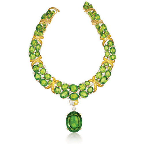 Verdura-Jewelry-X-Necklace-Peridot