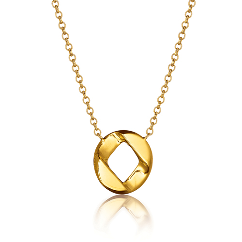Verdura-Jewelry-Curb-Link-Piccolo-Pendant Necklace-Gold-2018