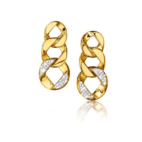 Verdura-Jewelry-Curb-Link-Piccolo-Pendant-Earclips-Gold-Diamond