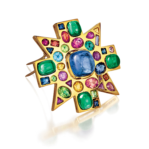 Verdura-Byzantine-Brooch-Sapphire-Emerald-2010-REV-2019
