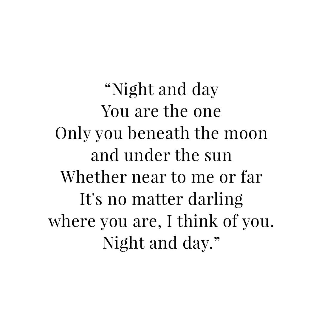 night and day lyrics