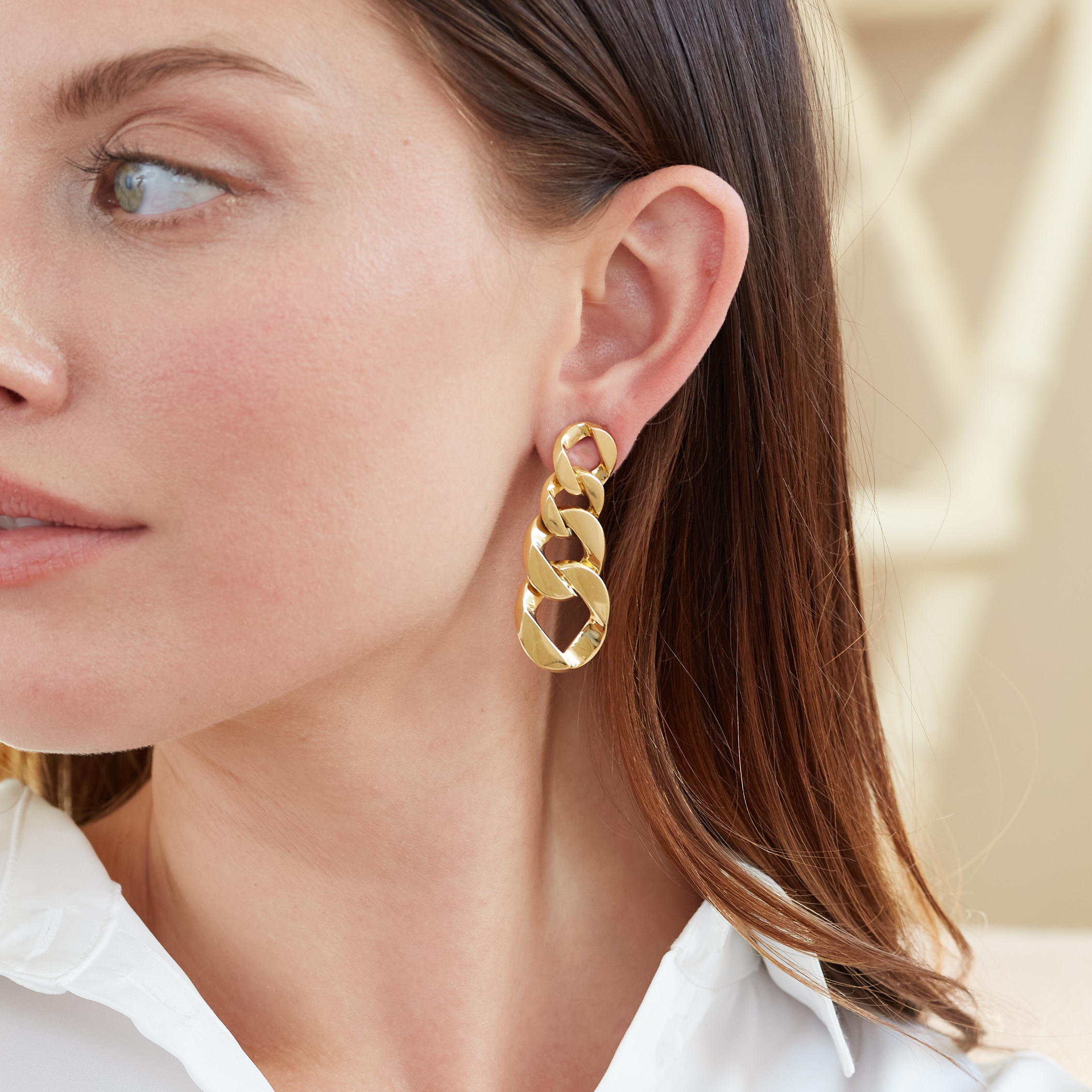 Curb-Link Pendant Earclips