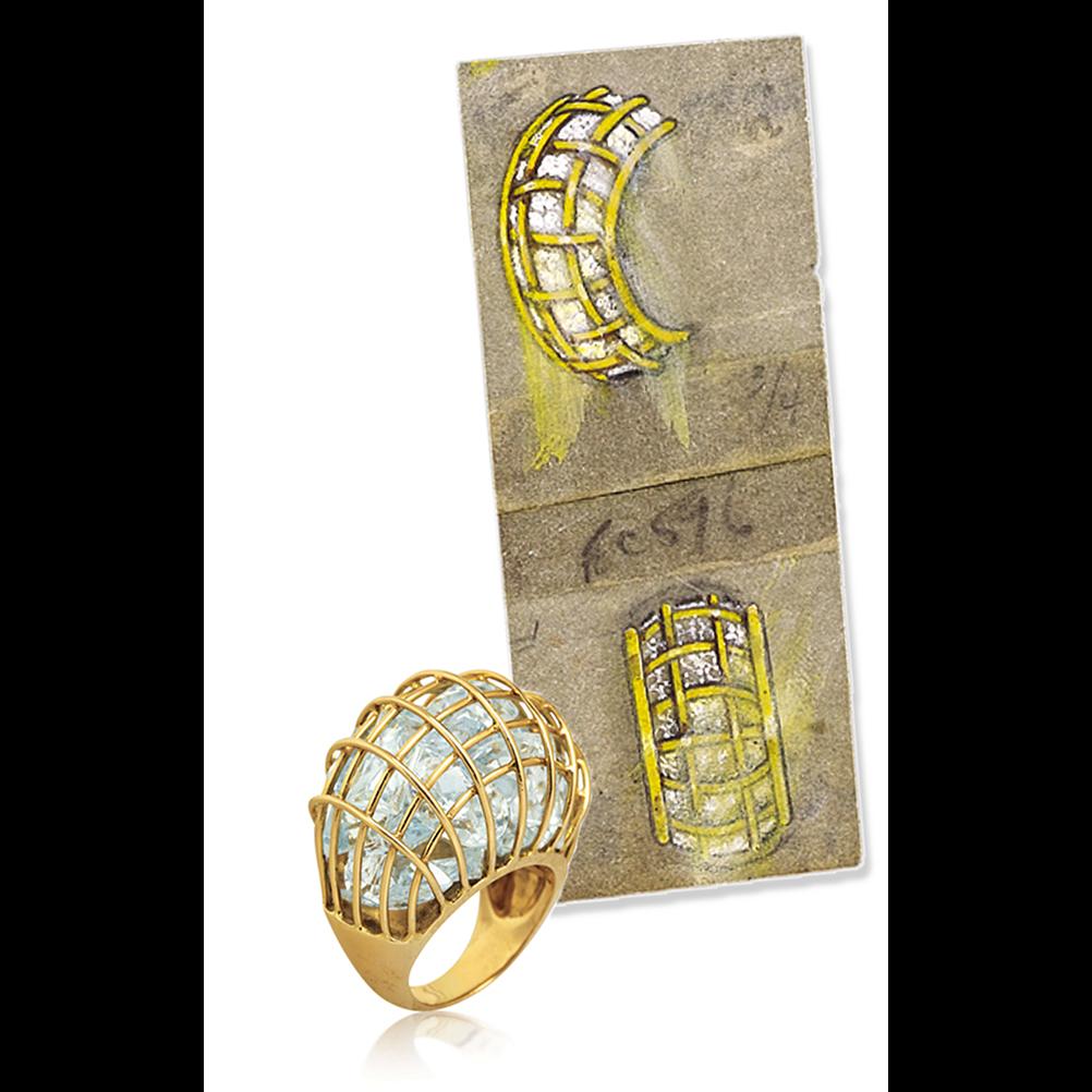 original caged ring