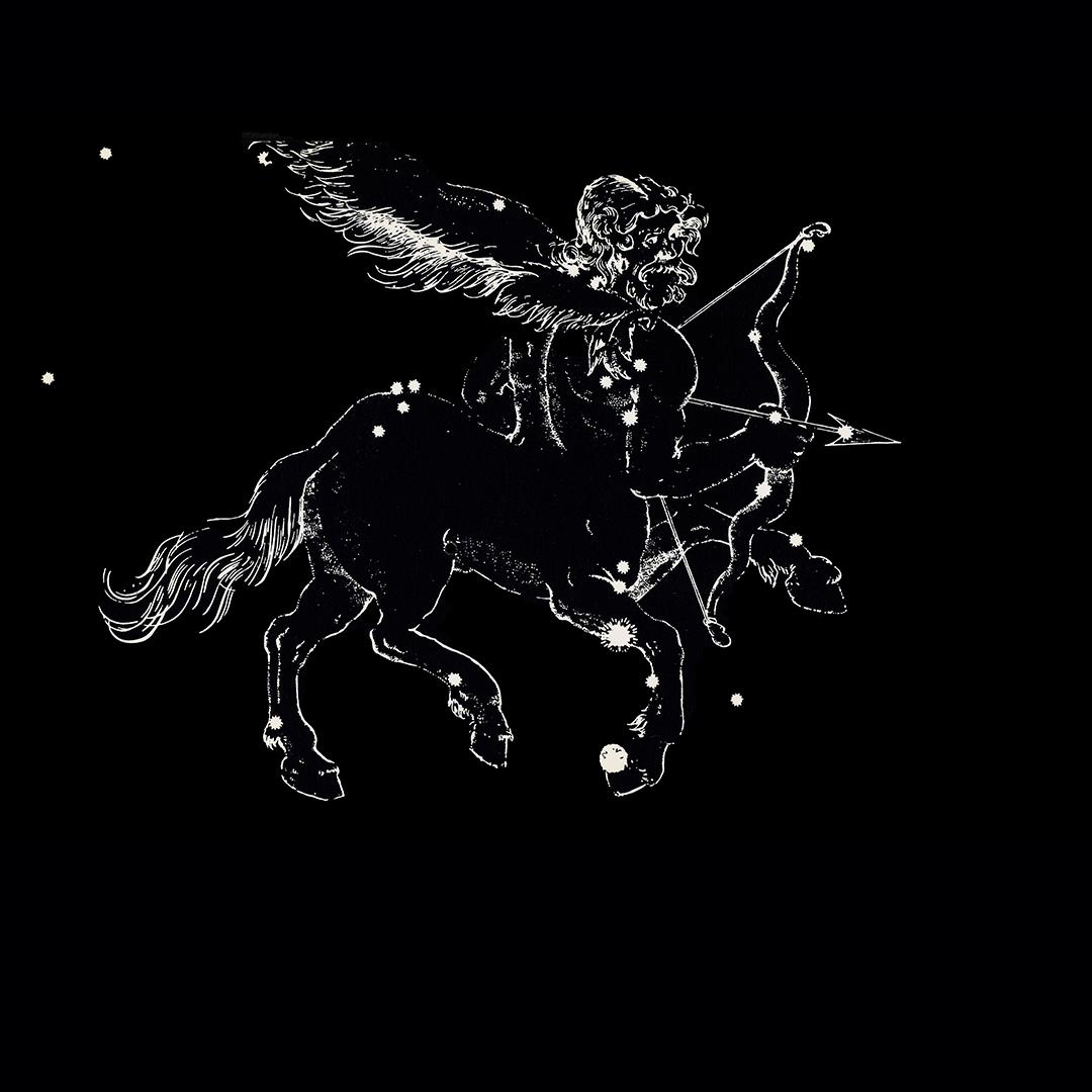sagittarius zosiac postcard