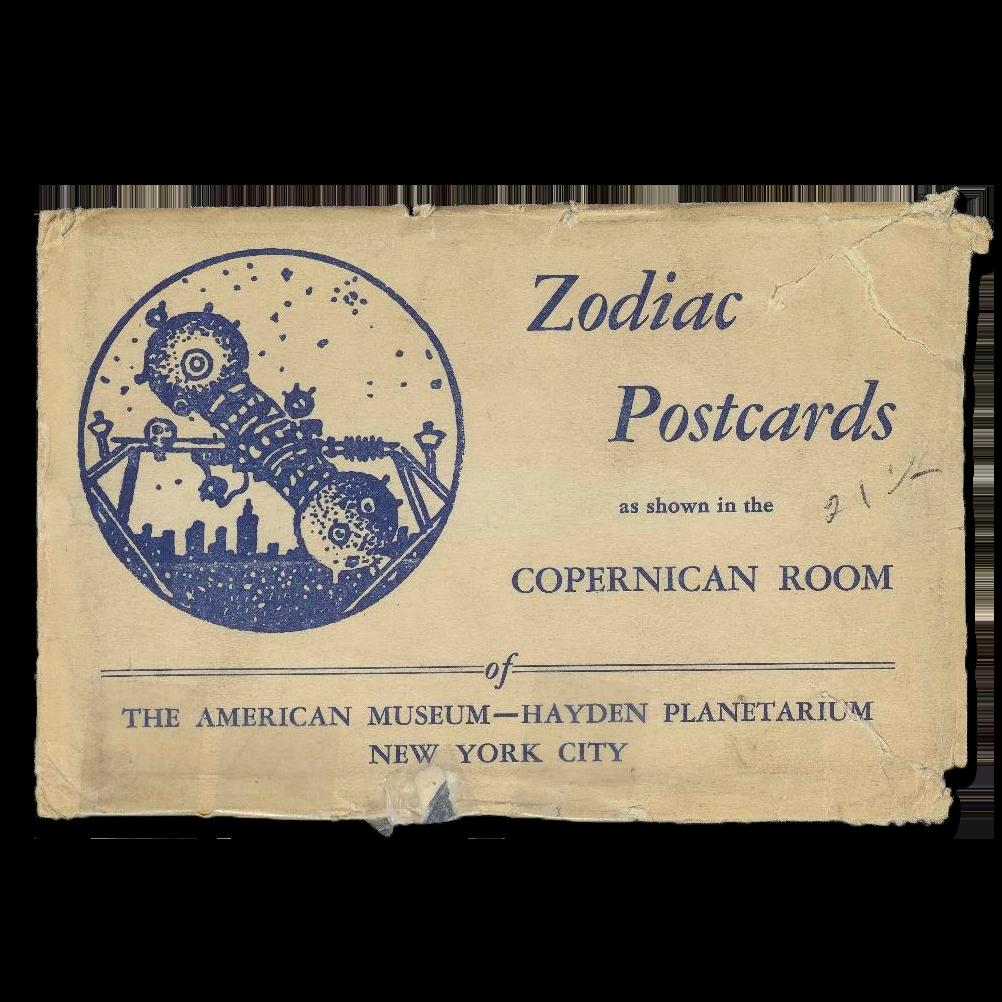 zodiac postcard cover